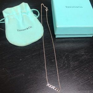 Tiffany & Co. necklace with original box and bag